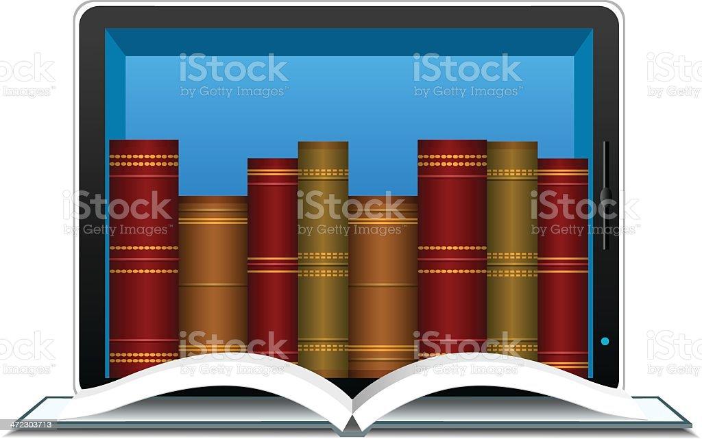Internet Library royalty-free stock vector art