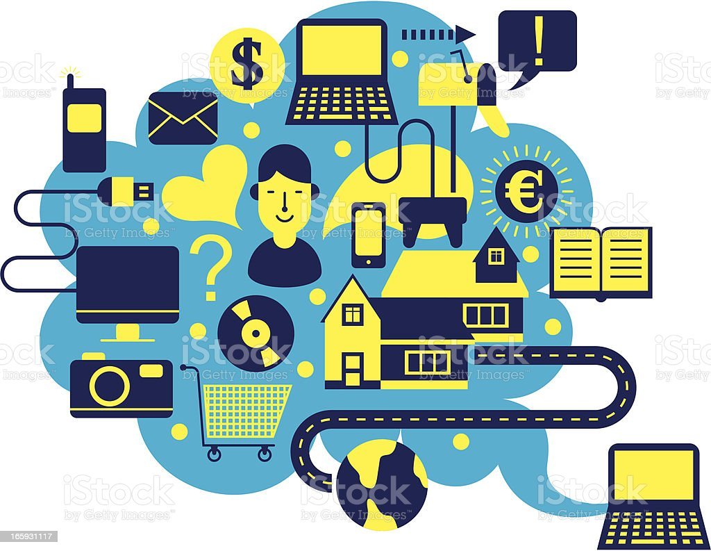 internet life royalty-free stock vector art