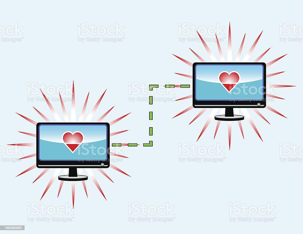 Internet Love royalty-free stock vector art