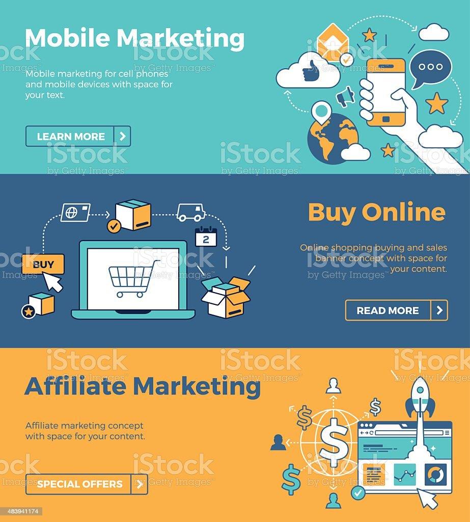 Internet Marketing Banners vector art illustration