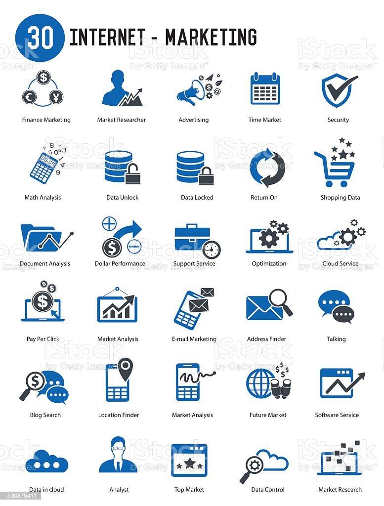Internet Marketing icon set,vector vector art illustration