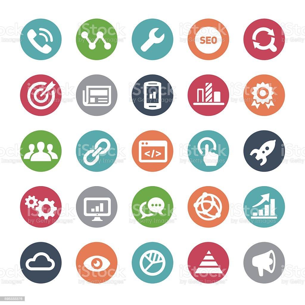 Internet Marketing Icons - Bijou Series vector art illustration