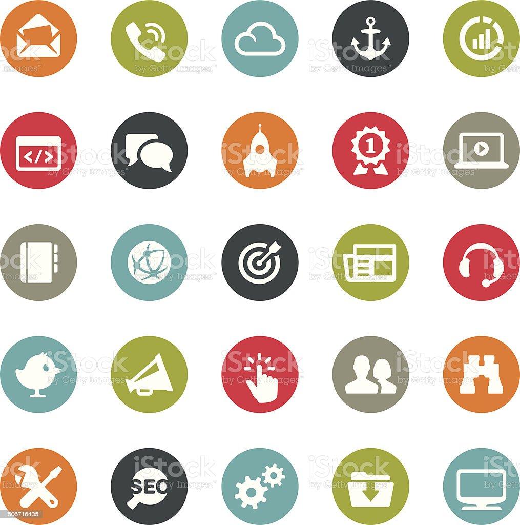 Internet marketing icons / Ringico series vector art illustration