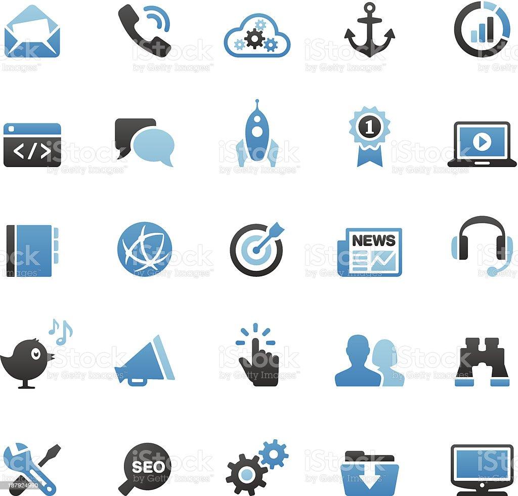 Internet Marketing icons set vector art illustration