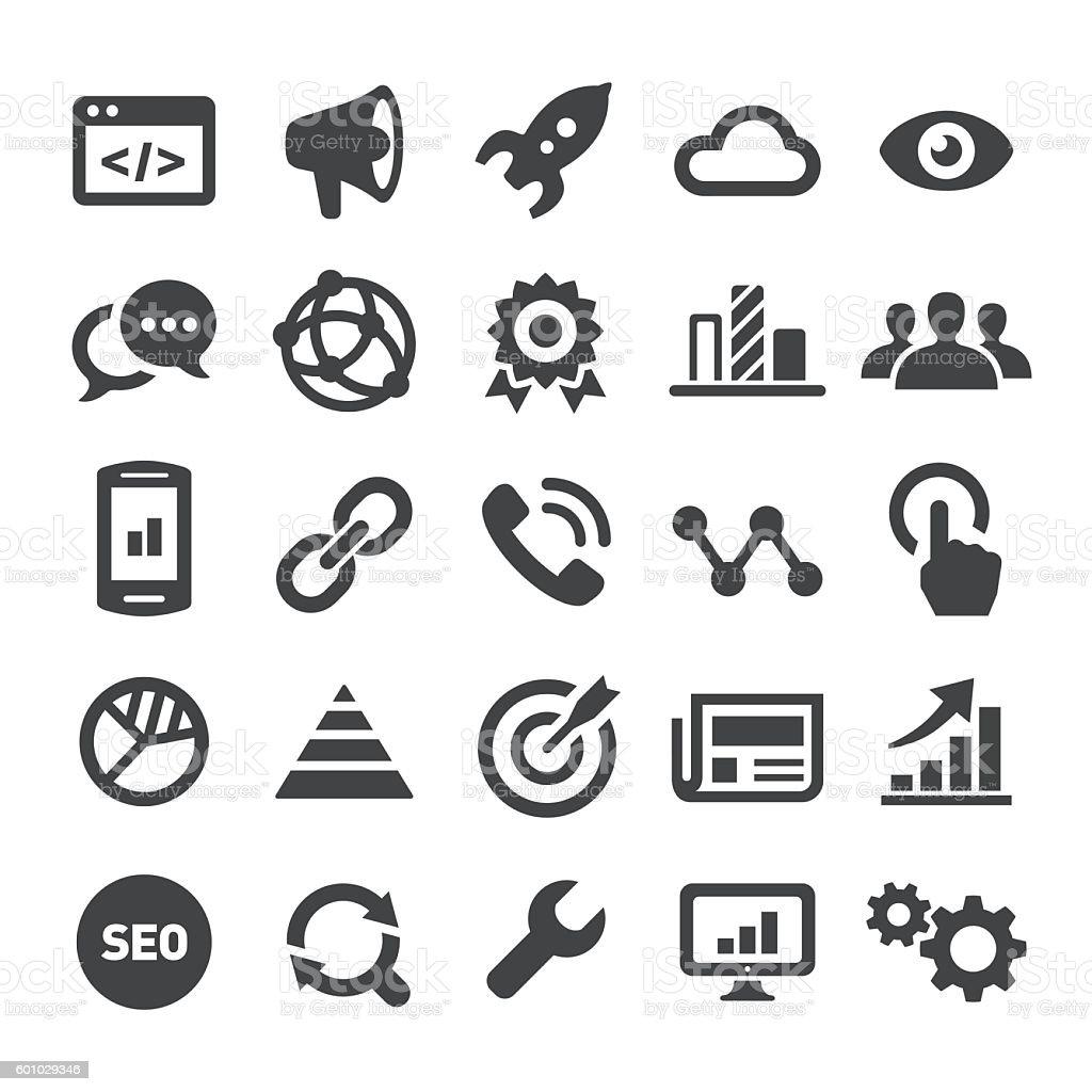 Internet Marketing Icons - Smart Series vector art illustration