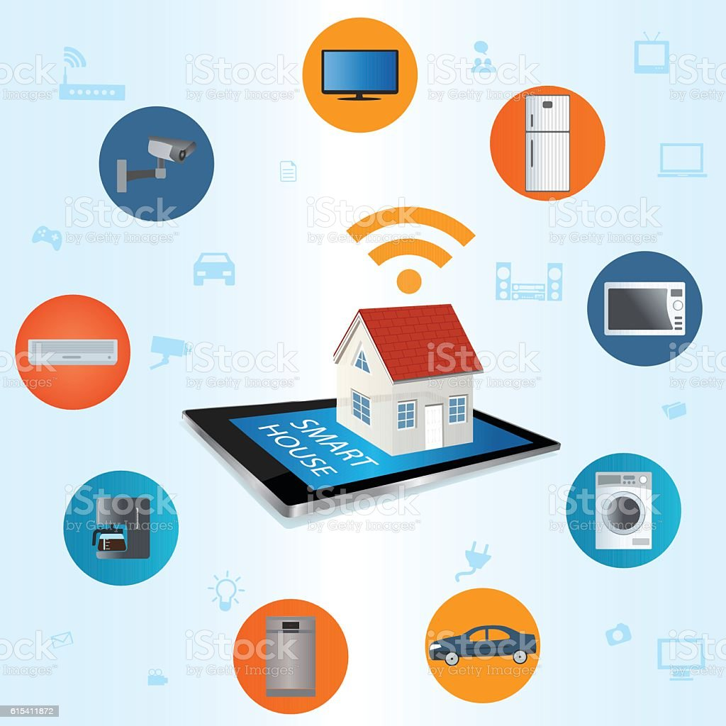 Internet of things concept vector art illustration