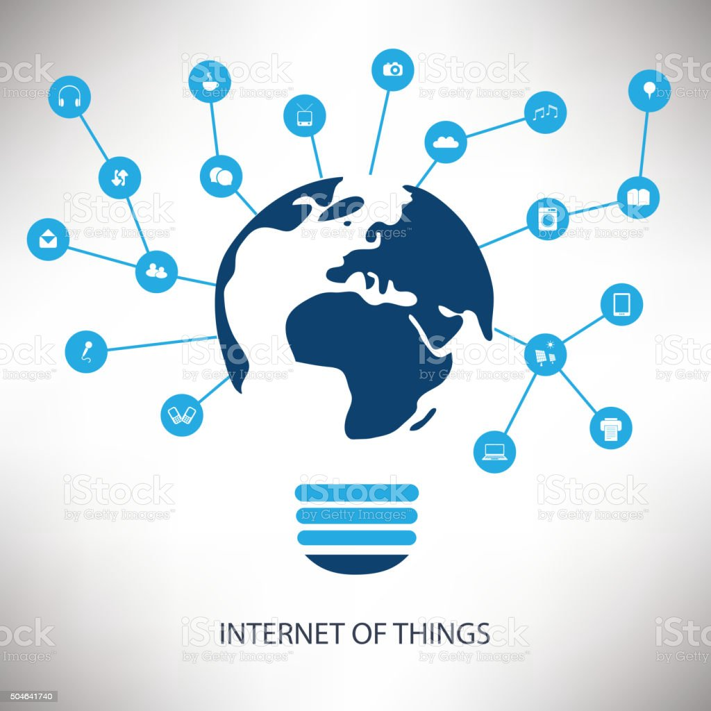 Internet Of Things Design Concept With Icons vector art illustration
