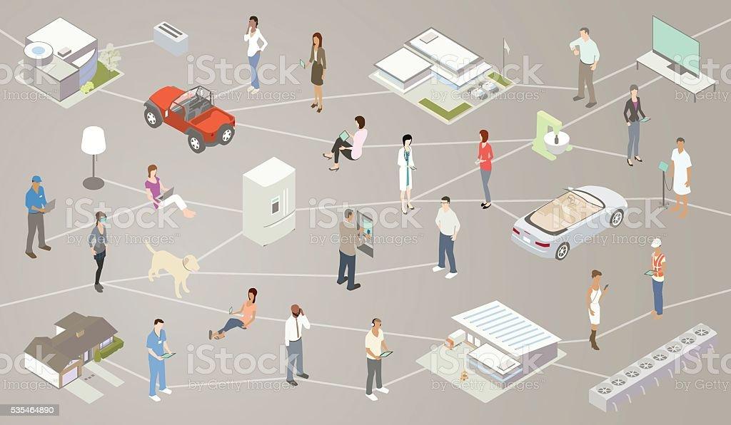 Internet of Things IOT Illustration vector art illustration
