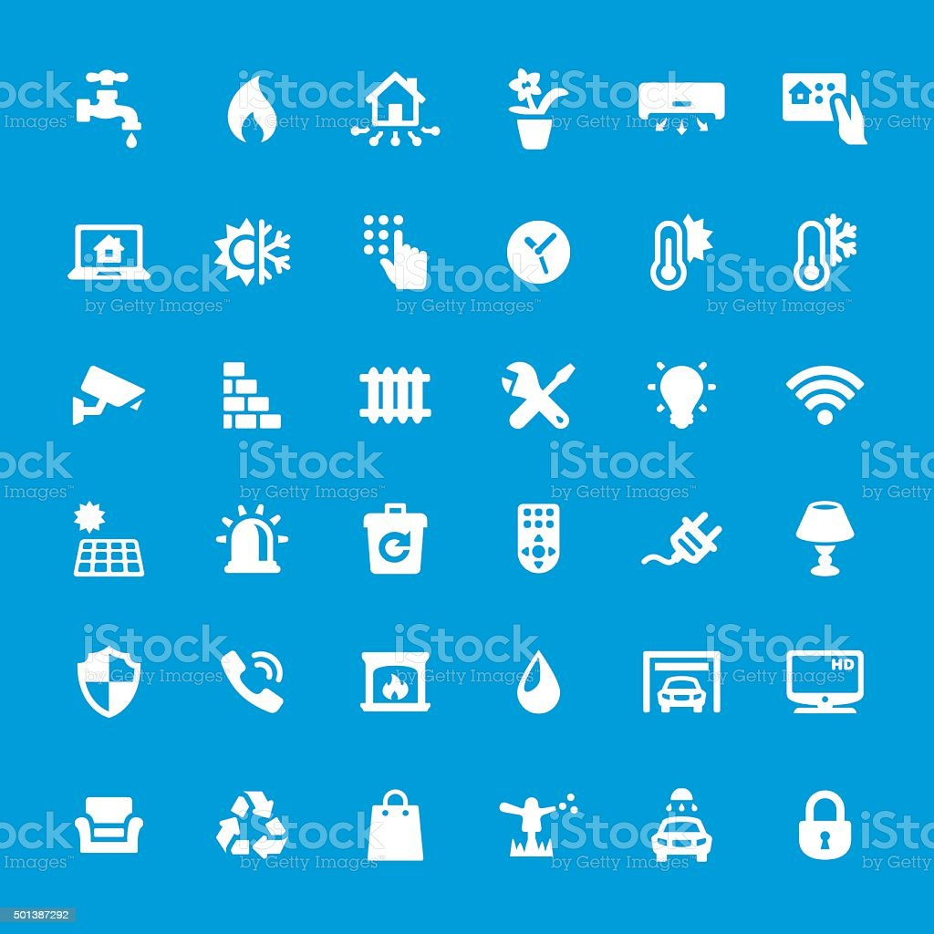 Internet of Things vector icons set vector art illustration