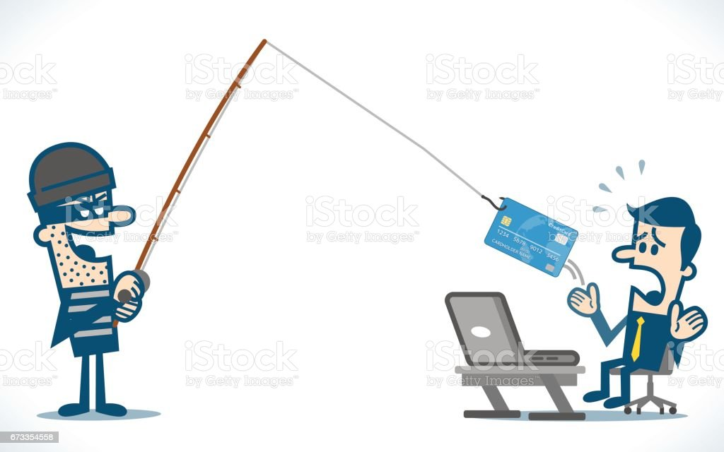 Internet Phishing vector art illustration