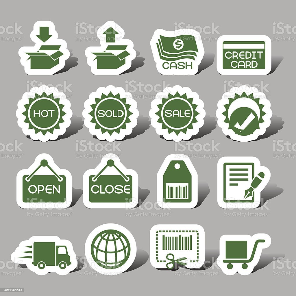 Internet sales interface icons royalty-free stock vector art