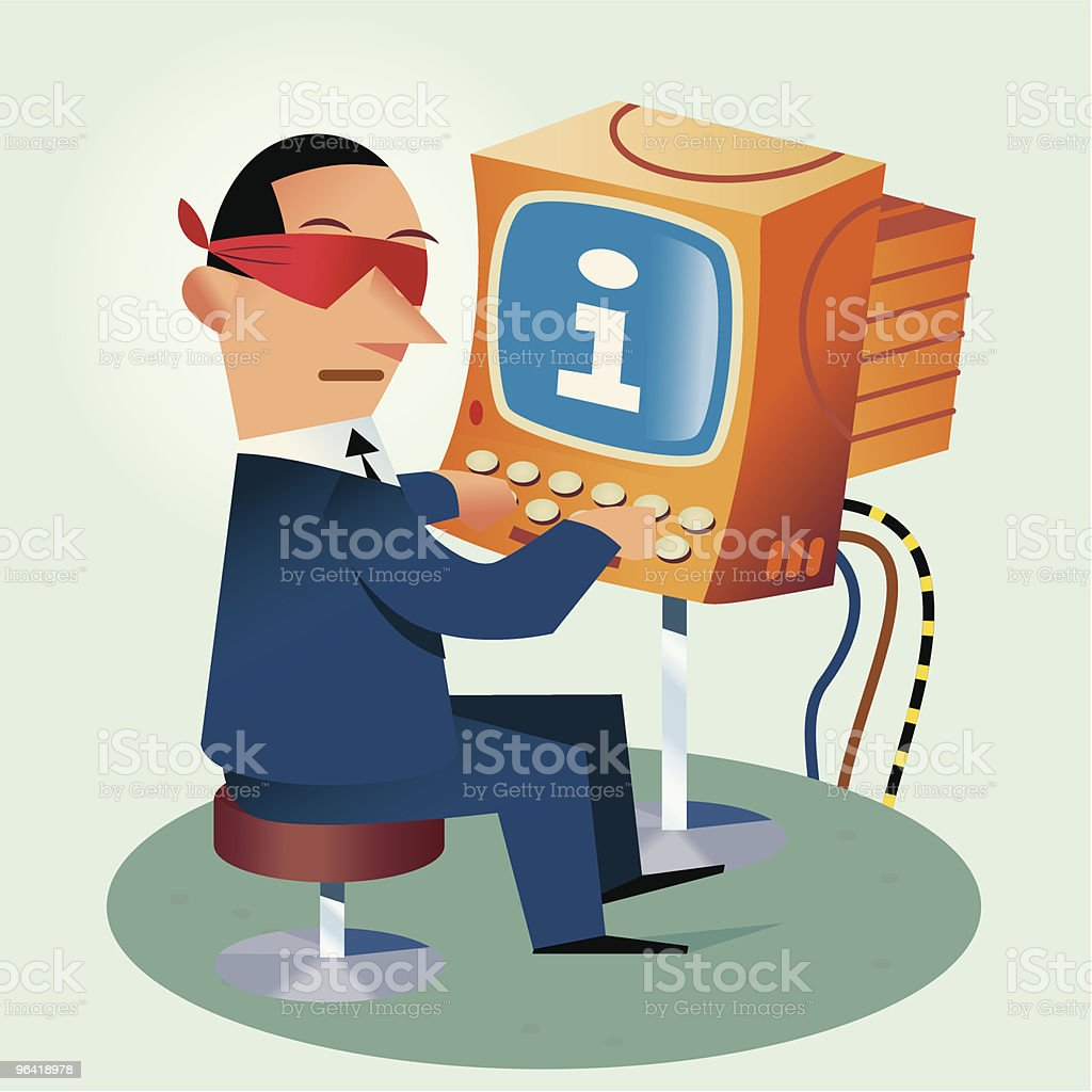 Internet Search - Can't find it? royalty-free stock vector art