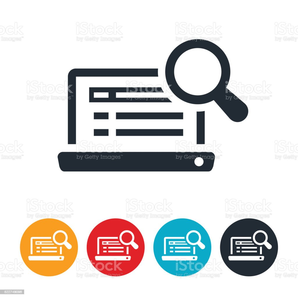 Internet Search Icon vector art illustration