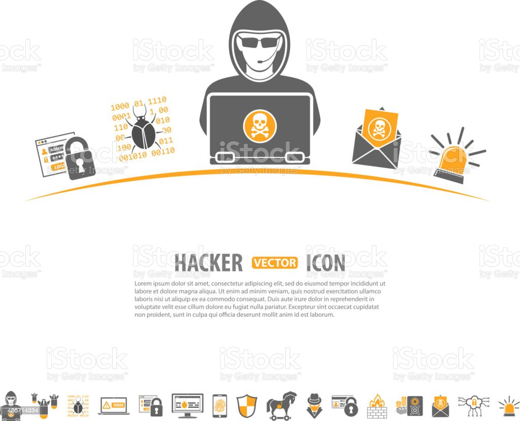 Internet Security Concept vector art illustration
