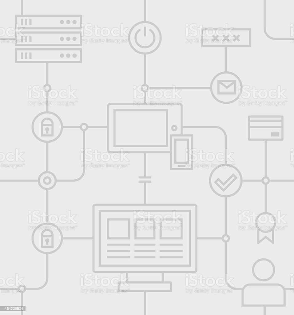 Internet Security Grey Pattern vector art illustration