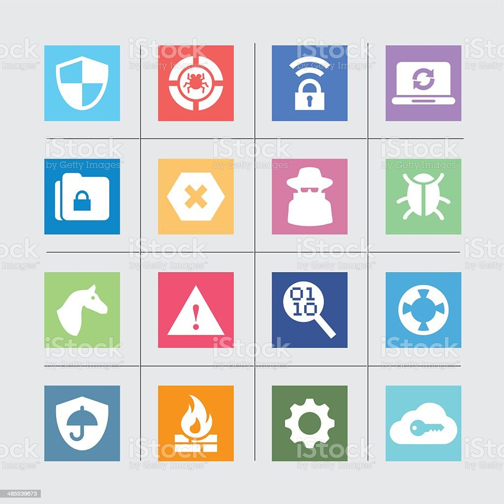 Internet Security Icons Color harmony| EPS10 vector art illustration