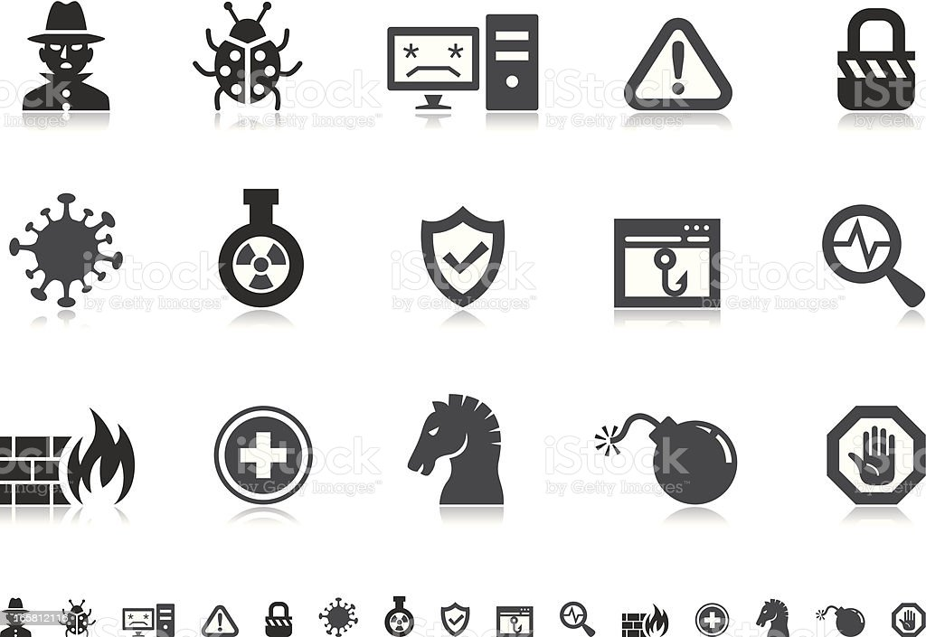 Internet Security icons   Pictoria series vector art illustration