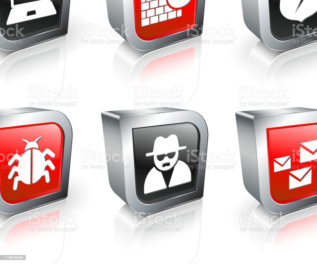 Internet security royalty free vector icon set royalty-free stock vector art