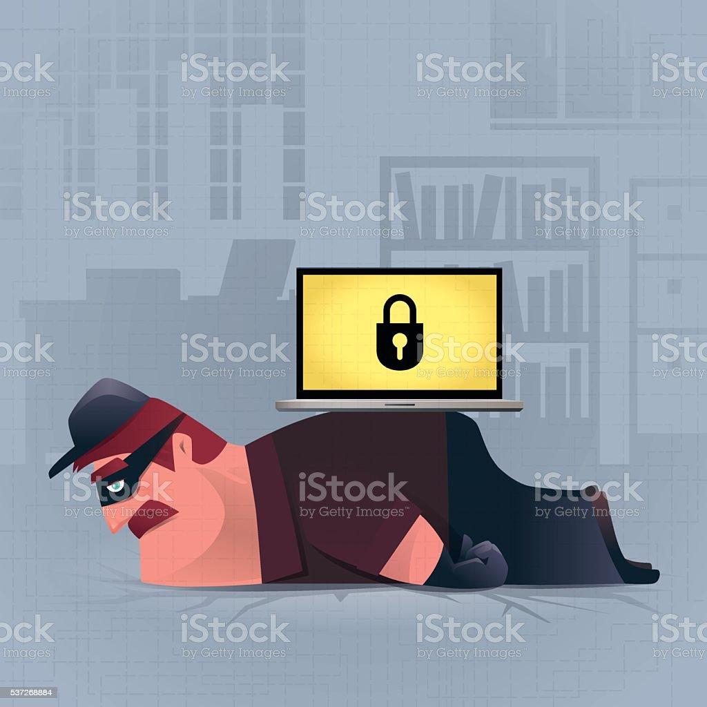 internet security vector art illustration