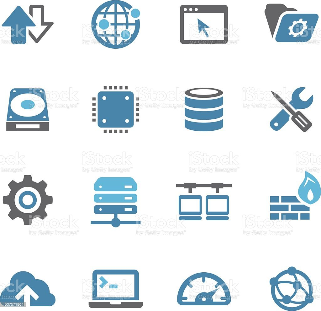 Internet Server Icons - Conc Series vector art illustration