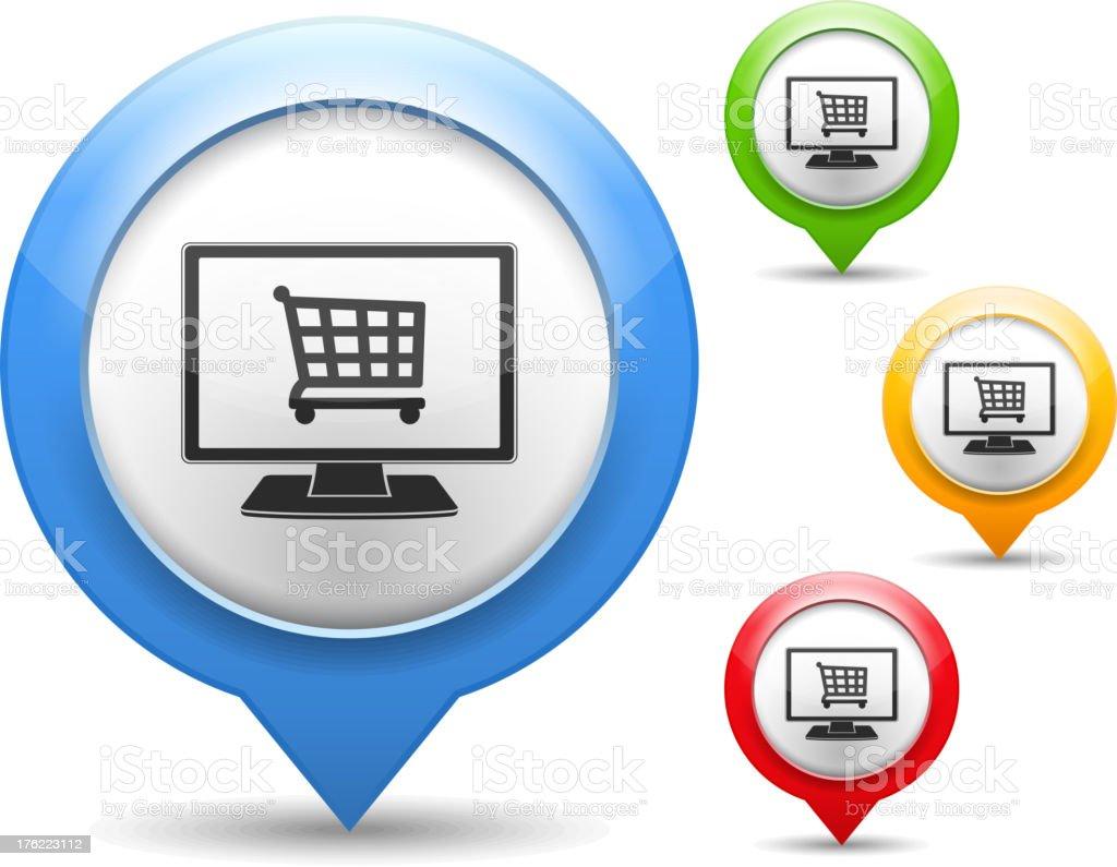 Internet Shop royalty-free stock vector art