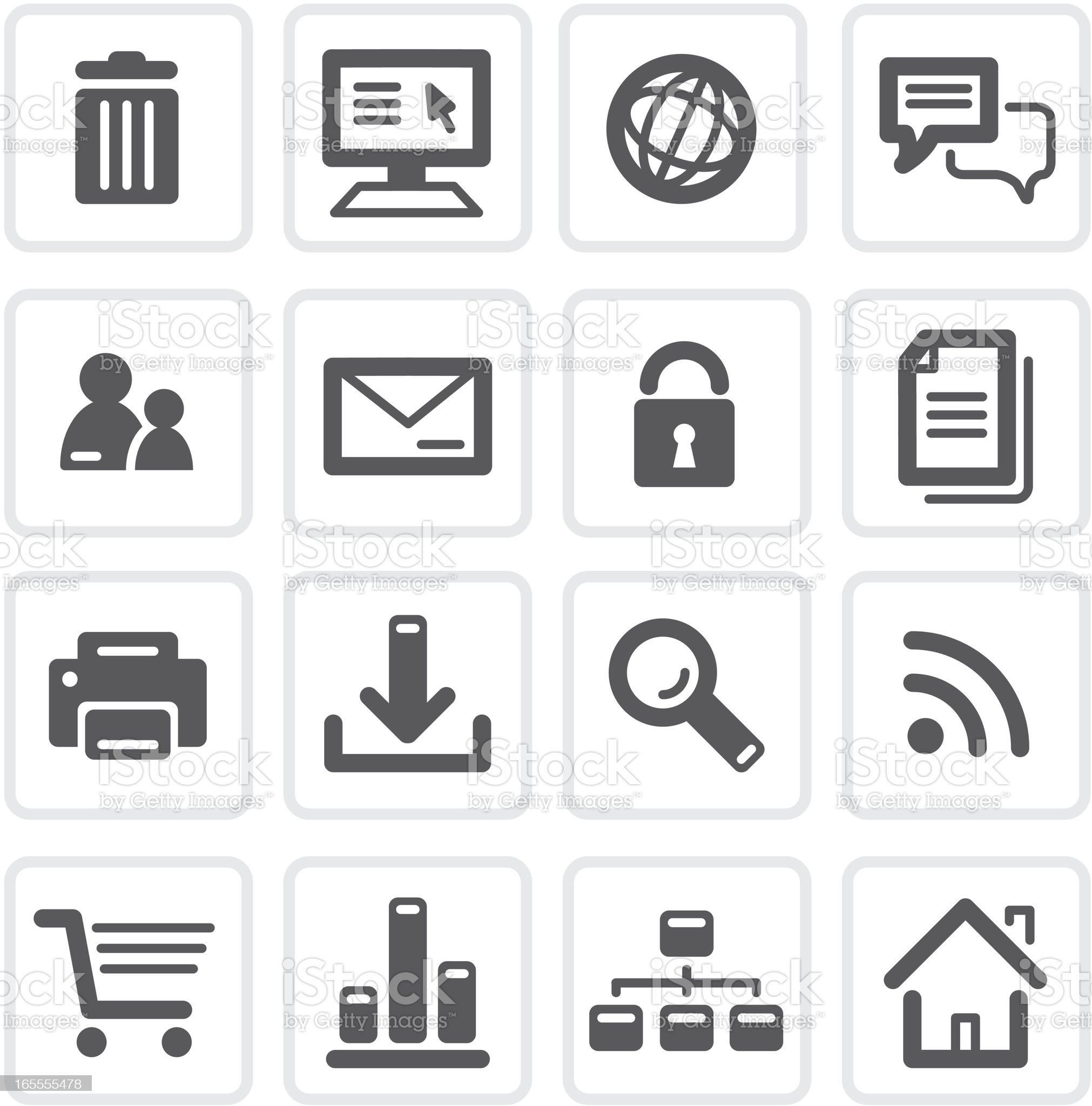 Internet Shopping Icons royalty-free stock vector art