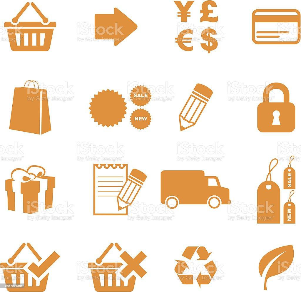 Internet Shopping Icons vector art illustration
