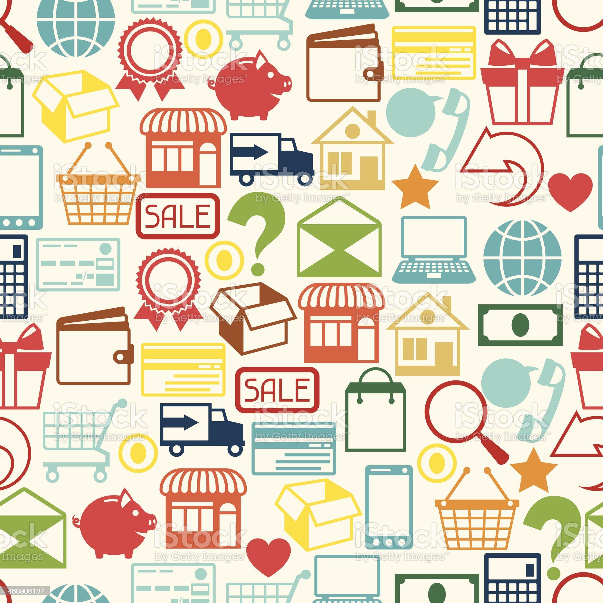 Internet shopping seamless pattern. royalty-free stock vector art