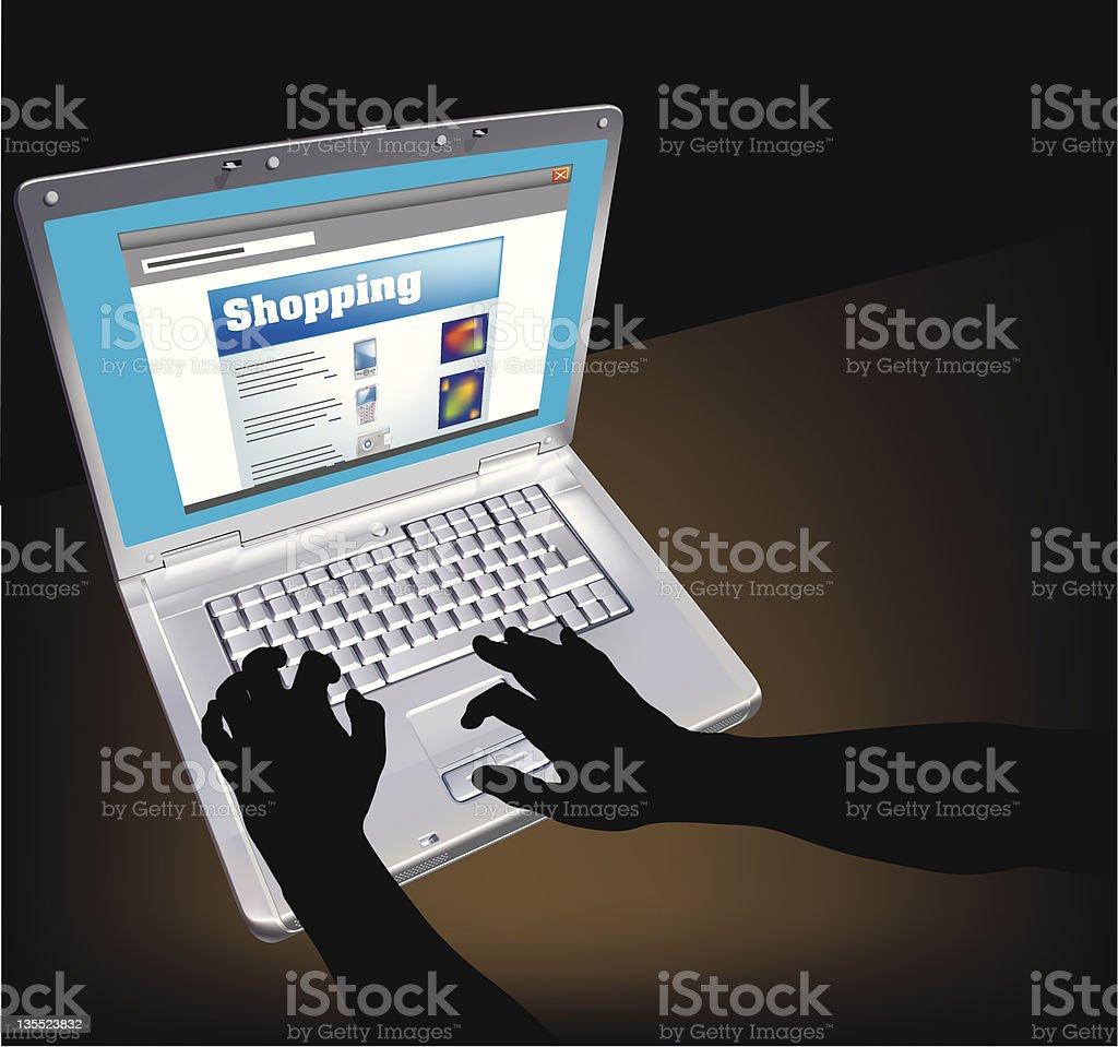 Internet Shopping royalty-free stock vector art