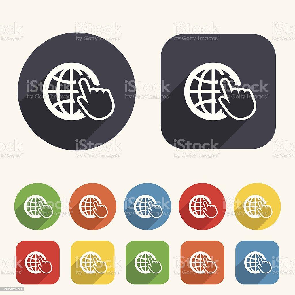 Internet sign icon. World wide web symbol. royalty-free stock vector art