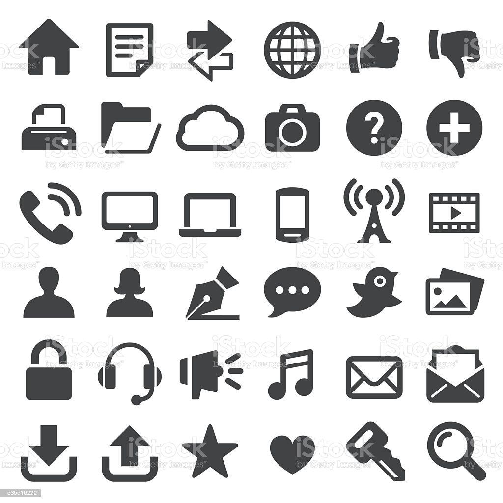 Internet Technology Icons - Big Series vector art illustration