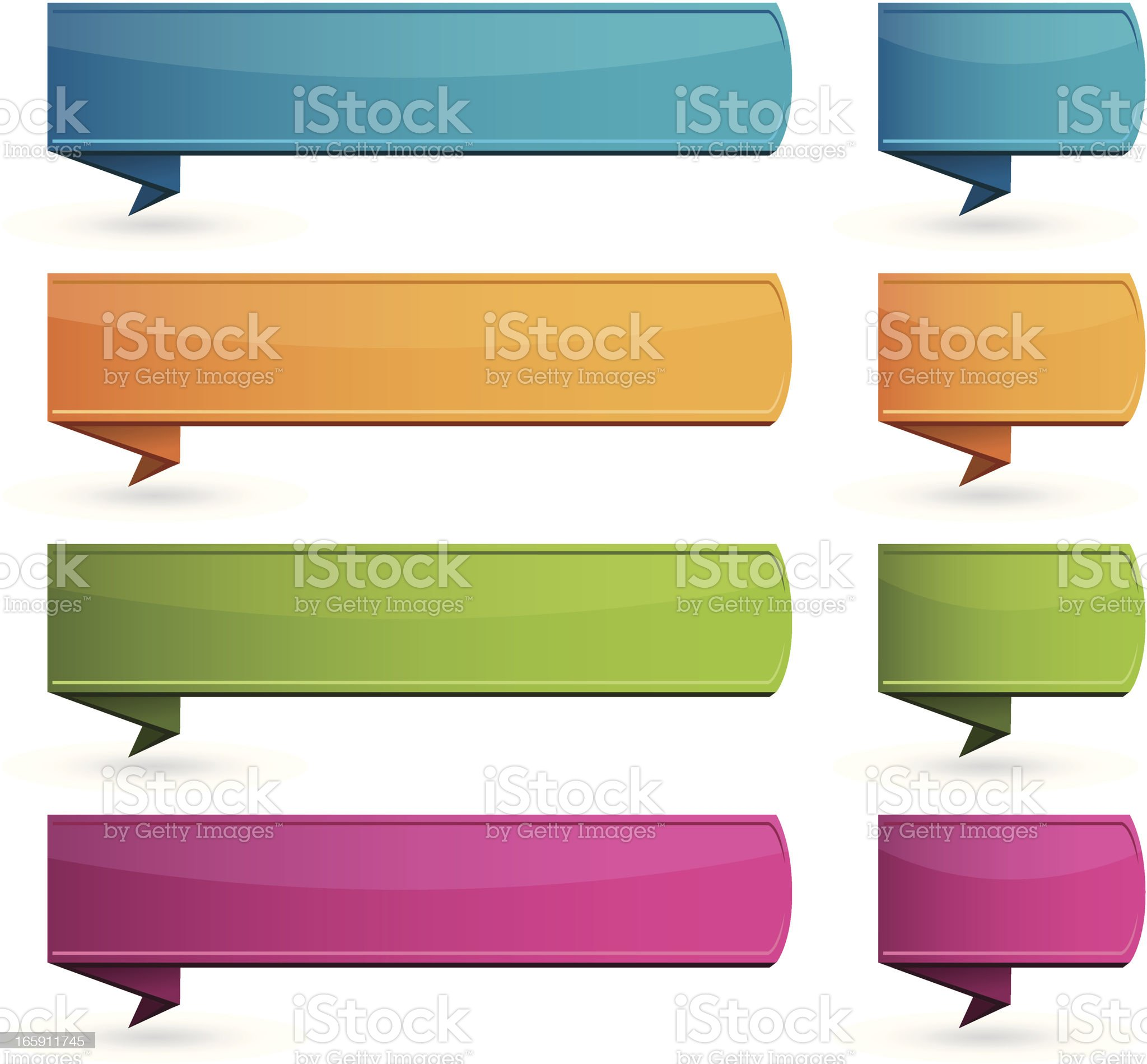 Internet text banners origami style royalty-free stock vector art