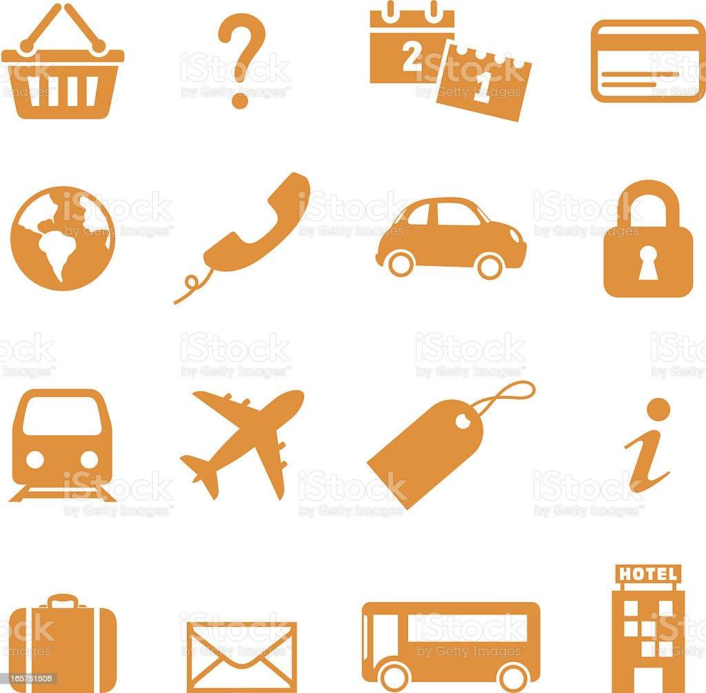 Internet Travel Icons royalty-free stock vector art