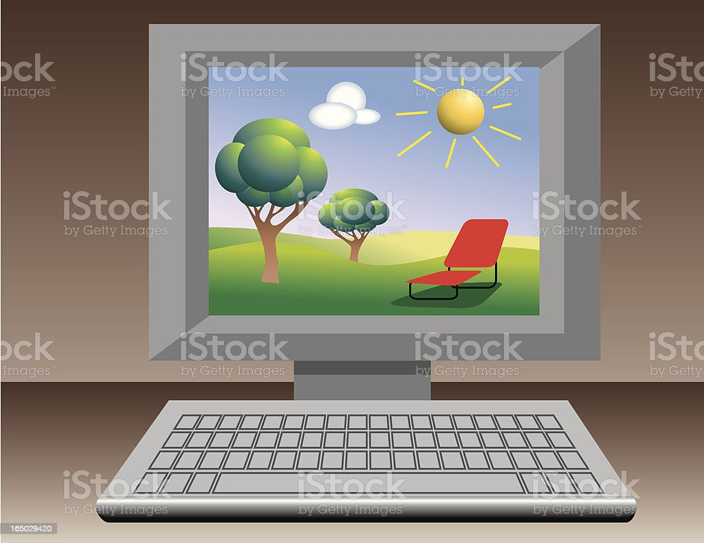 internet vacation royalty-free stock vector art