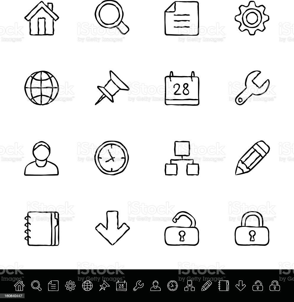 Internet vector icons set on white background stock photo