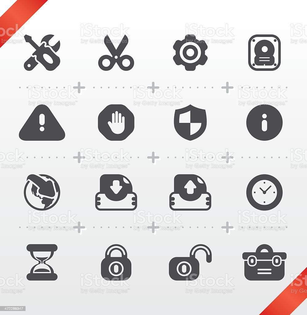 Internet & Web Icon Set | Dimgray Series vector art illustration