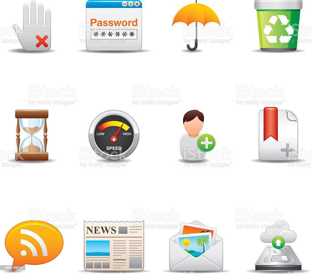Internet & Web Icon Set | Elegant Series royalty-free stock vector art
