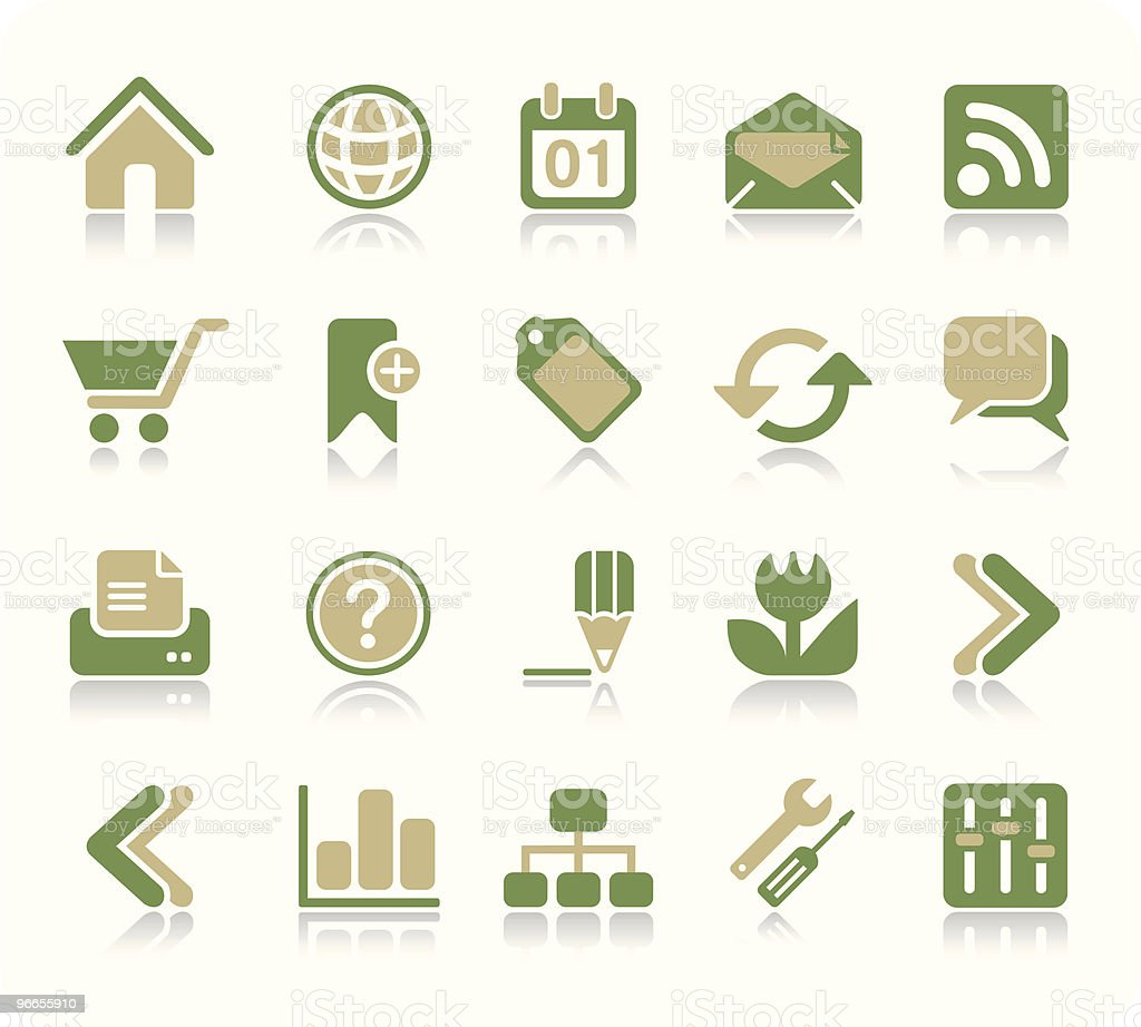 Internet & Web icon set | Recycle series royalty-free stock vector art