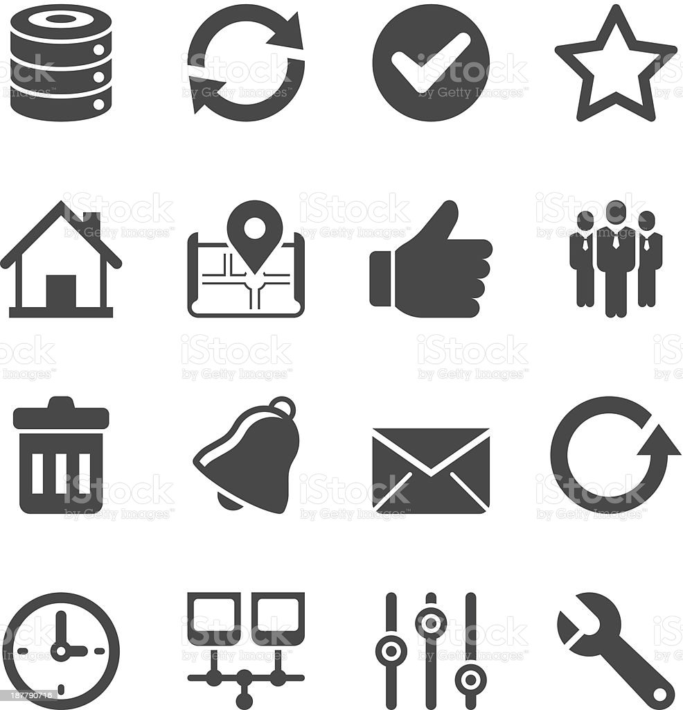 Internet & Web Icon Set | Unique Series vector art illustration