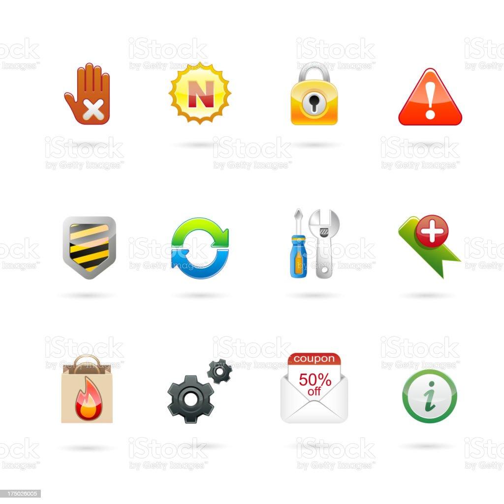 internet web icon set. royalty-free stock vector art