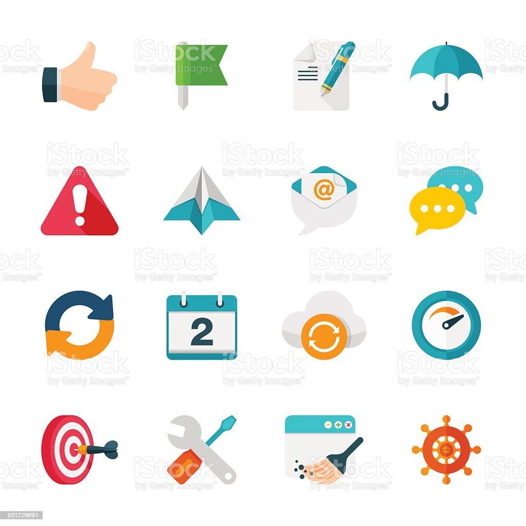 Internet & Web Set | Flat Design Icons vector art illustration