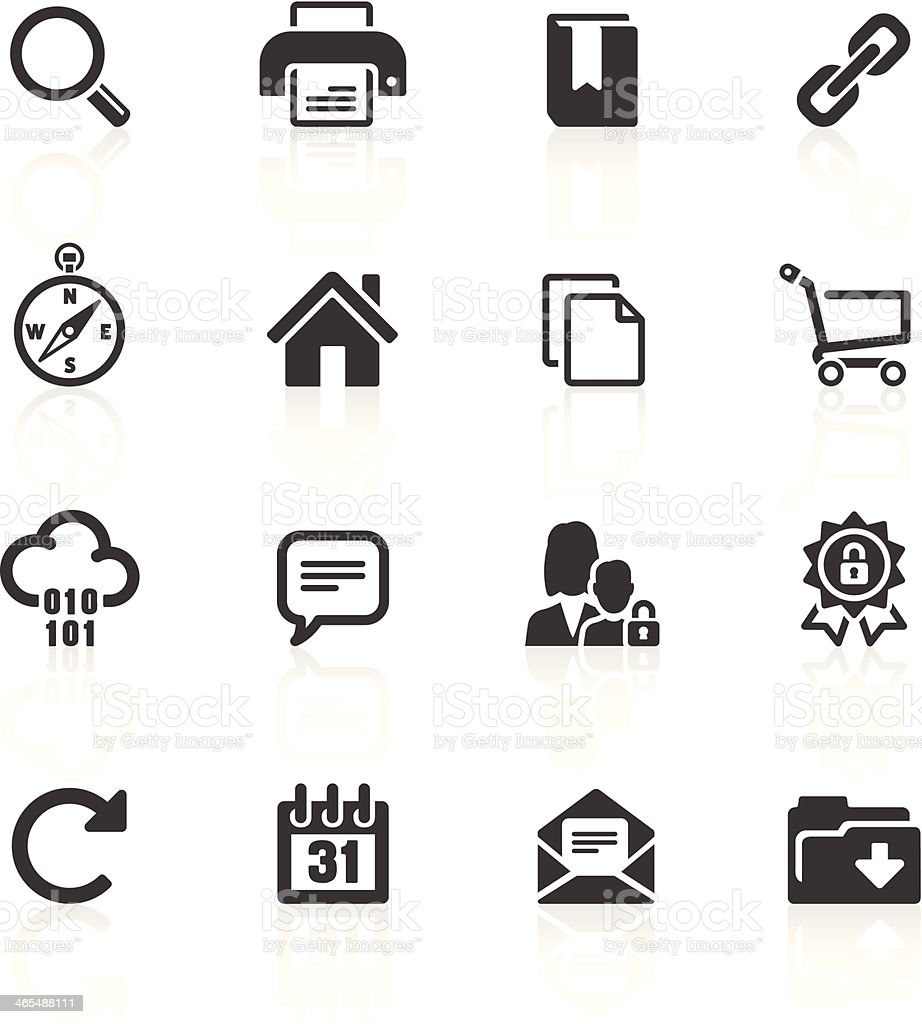 Internet & Website Icons vector art illustration