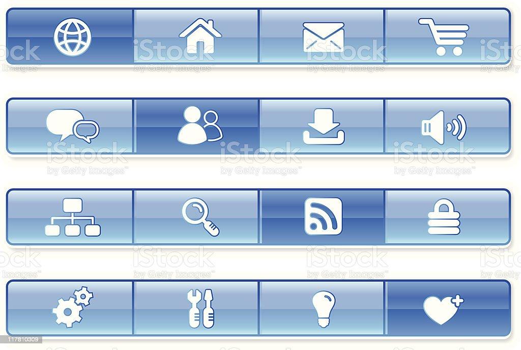 internet website navigation iconography set royalty-free stock vector art