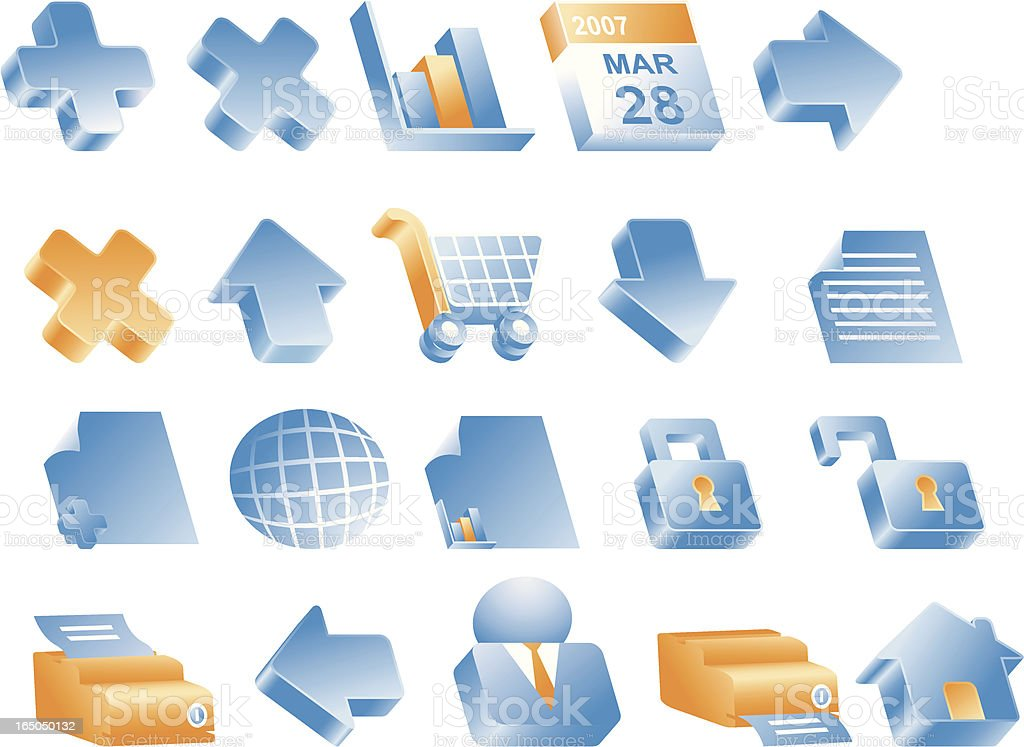 Internet & www Icons (Complimentary Set) royalty-free stock vector art