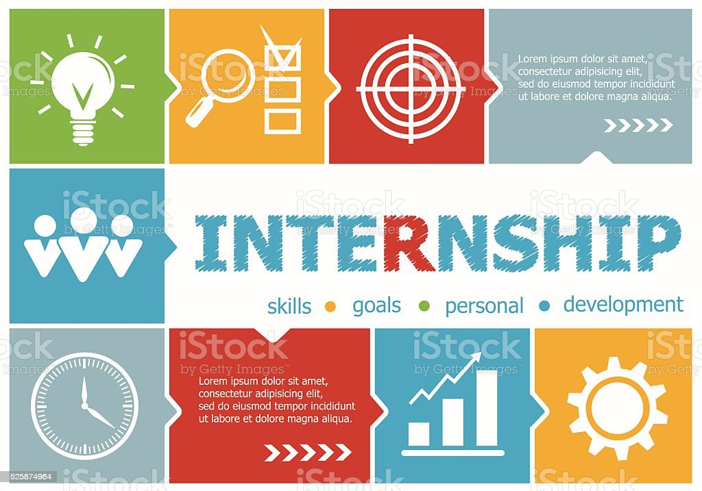 Internship design illustration concepts for business, consulting vector art illustration