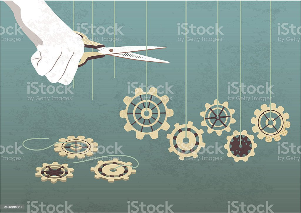 interrupt the mechanism vector art illustration