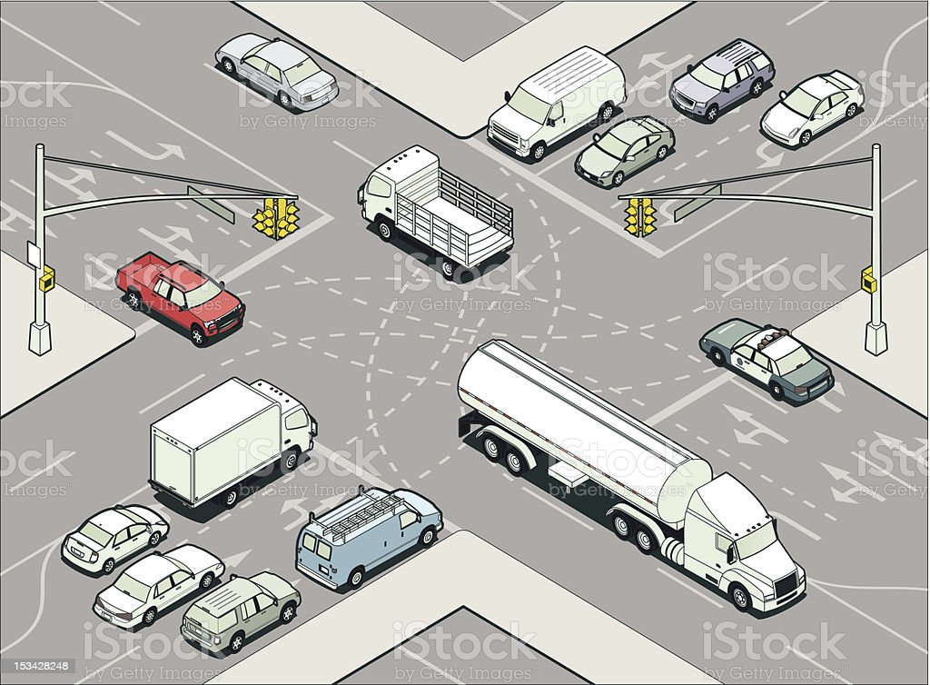 Intersection Illustration vector art illustration