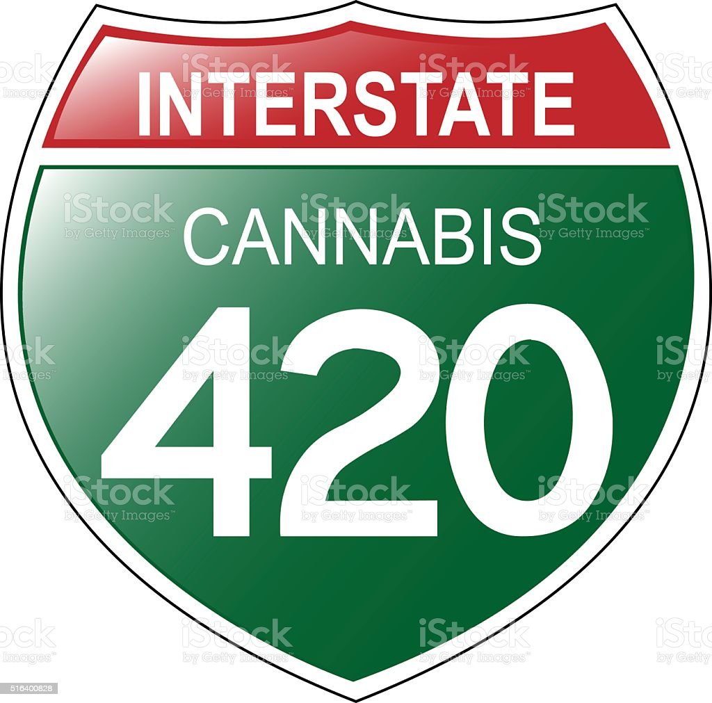 Interstate 420 Sign vector art illustration