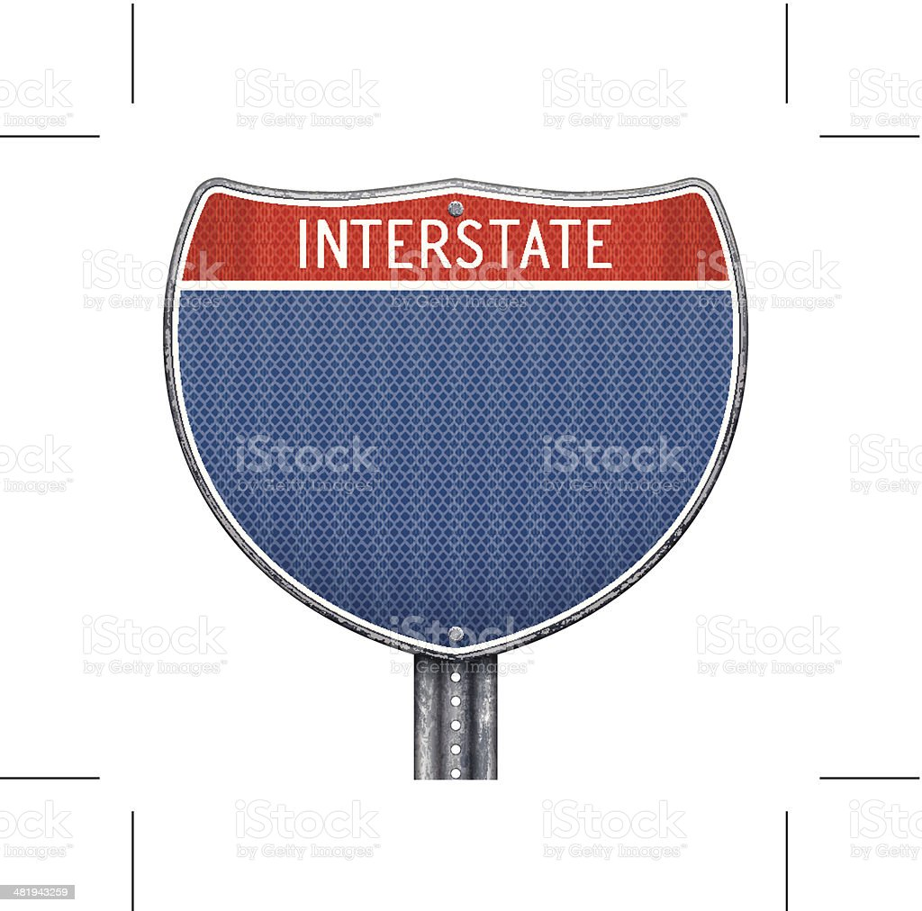 USA interstate road sign royalty-free stock vector art