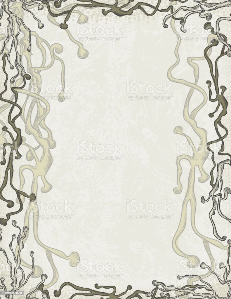 Intertwined abstract branch frame background vector art illustration
